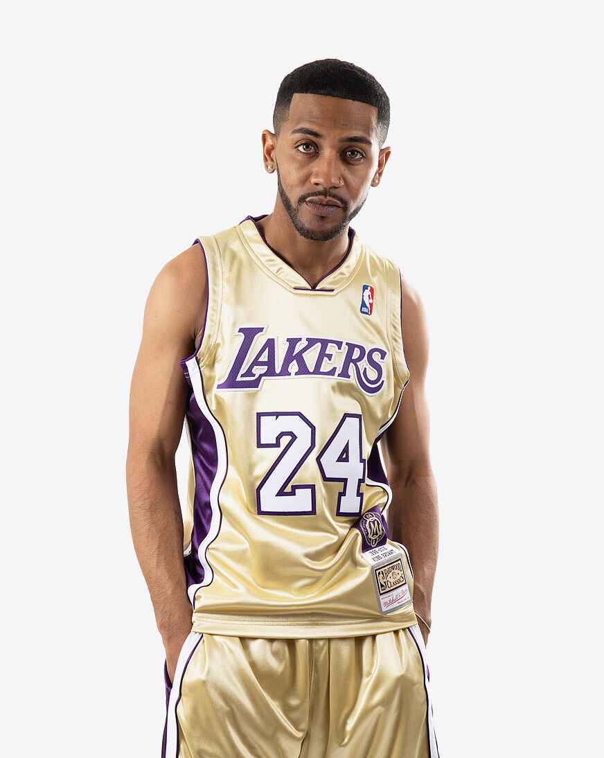 Mitchell Ness Los Angeles Lakers HOF Kobe Bryant Authentic Jersey Mens Clothes   Snipes USA